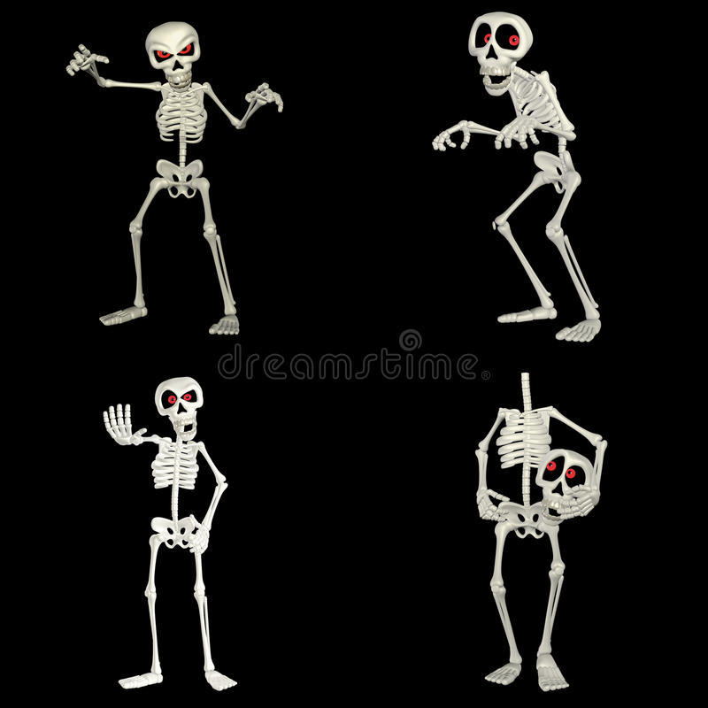 Download Skeleton Pack stock illustration. Image of black, isolated - 24352003