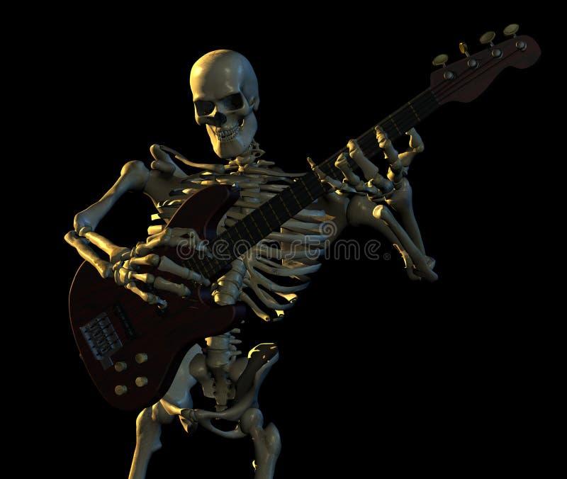 Download Skeleton Playing Guitar stock illustration. Illustration of goth - 2491099