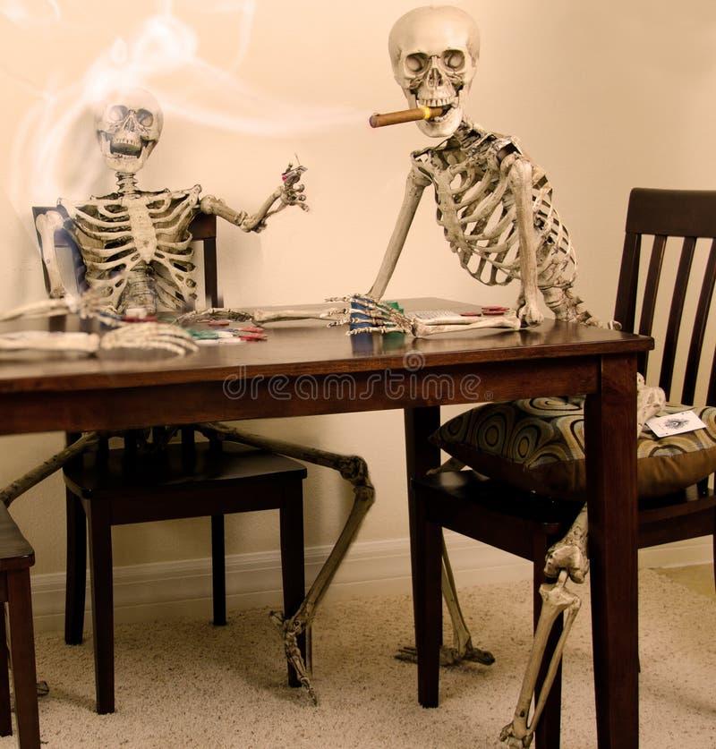 Skeleton Poker royalty free stock images