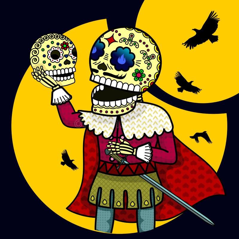Skeleton Prinz lizenzfreie abbildung