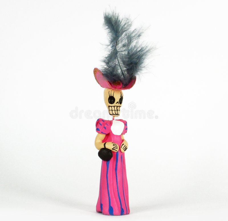 Skeleton sculpture. La Katrina is one of the Mexican popular phrases for death royalty free stock photography