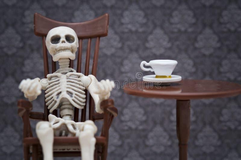 Skeleton Sitting Stock Photo Image 69251101