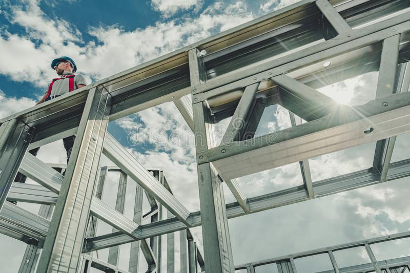 Contractor Working at Height royalty free stock images