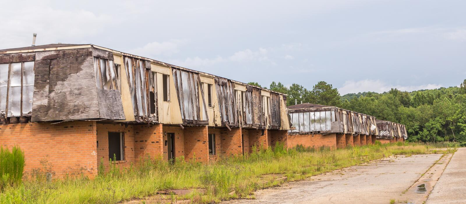 Skeleton Structures of Old Urban Projects stock photo