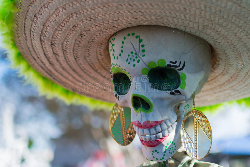 Skeleton at the 15th annual Day of the Dead Festival. Los Angeles, CA - November 1, 2014: Skeleton at the 15th annual Day of the Dead Festival (Dia de los stock images
