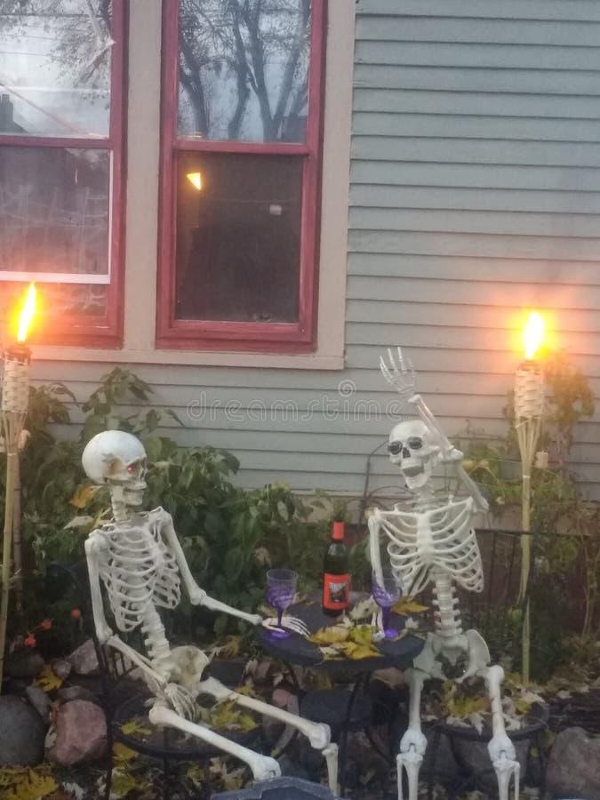 Skeleton Trinken lizenzfreies stockfoto