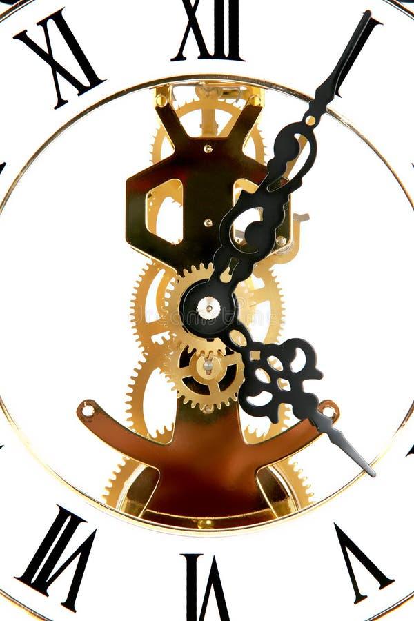 Skeleton Uhr lizenzfreies stockbild