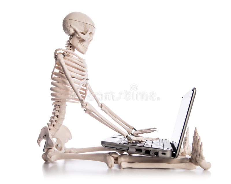 Download Skeleton Working Royalty Free Stock Photo - Image: 29914575