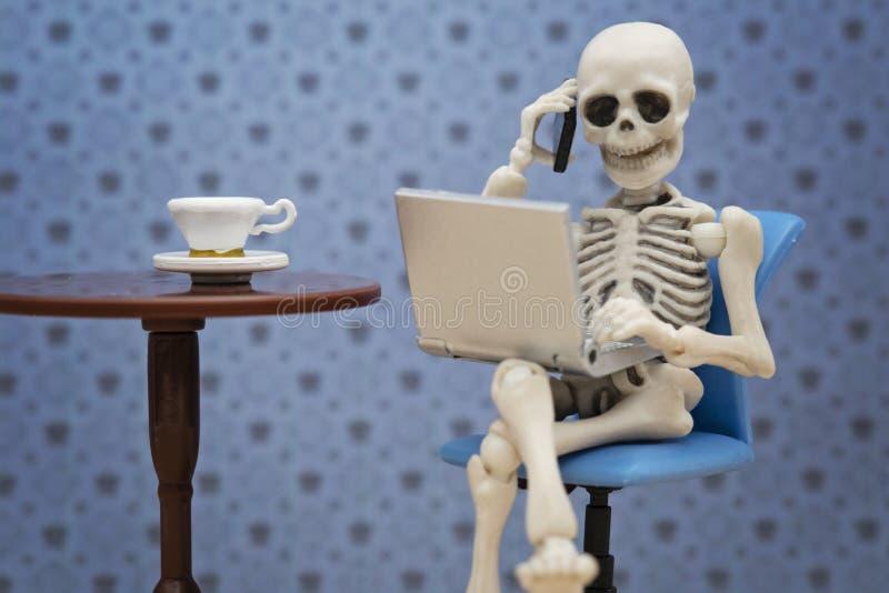 Skeleton works royalty free stock photography