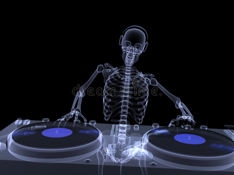 Skeleton X-Ray - DJ 2 Royalty Free Stock Image