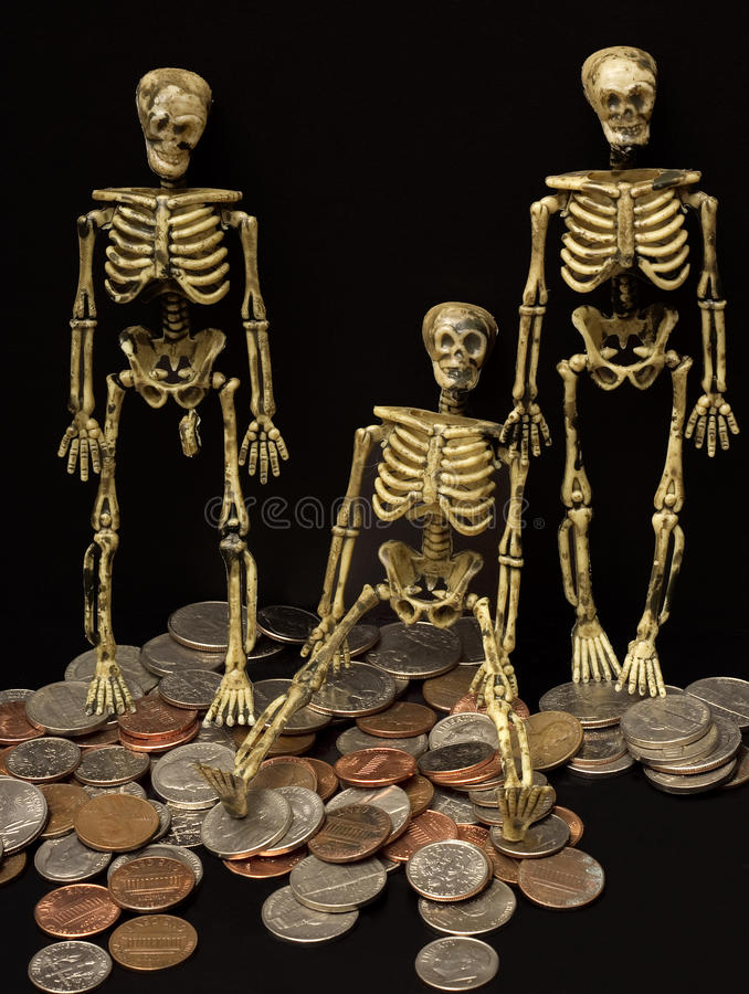 Download Skeletons and Change stock image. Image of vertical, currency - 17281579