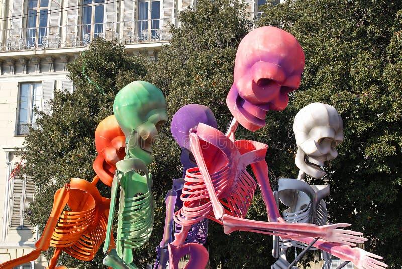 Skeletors coloridos fotos de stock royalty free