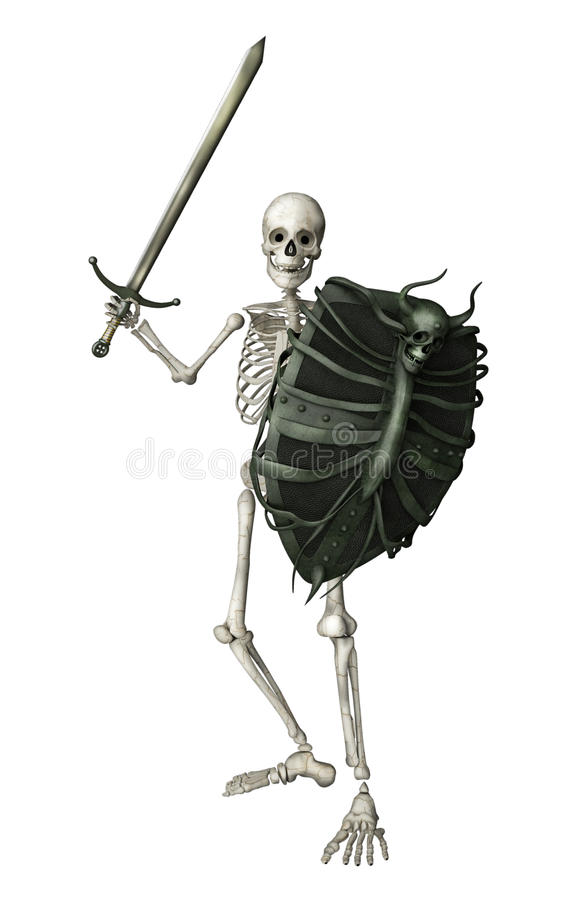 Skeletstrijder stock illustratie