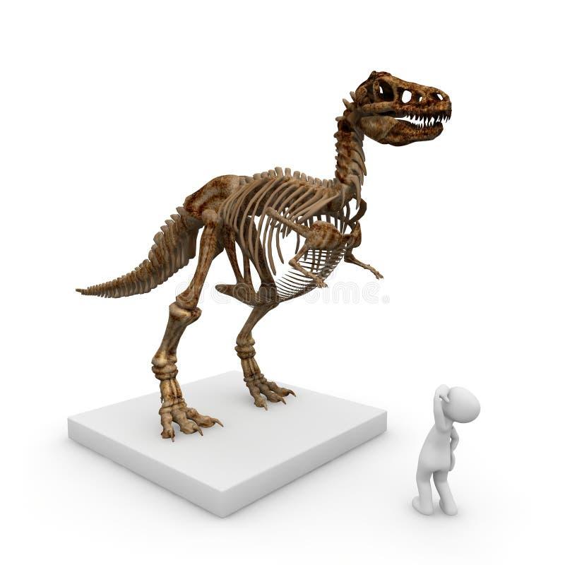 Skelett av en dinosaur royaltyfri illustrationer