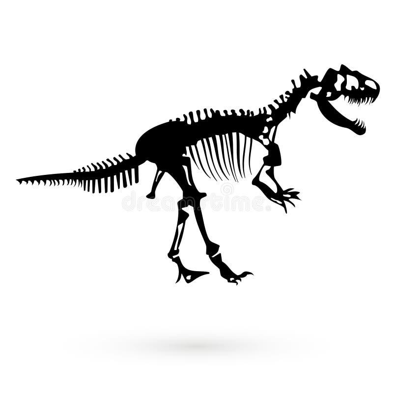 Skelett av en dinosaur raster stock illustrationer