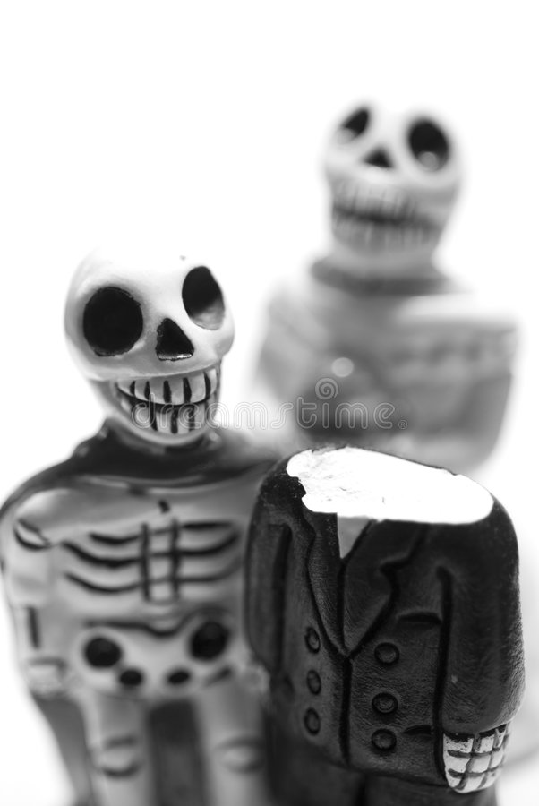 Skelett des Supermannes stockfotos