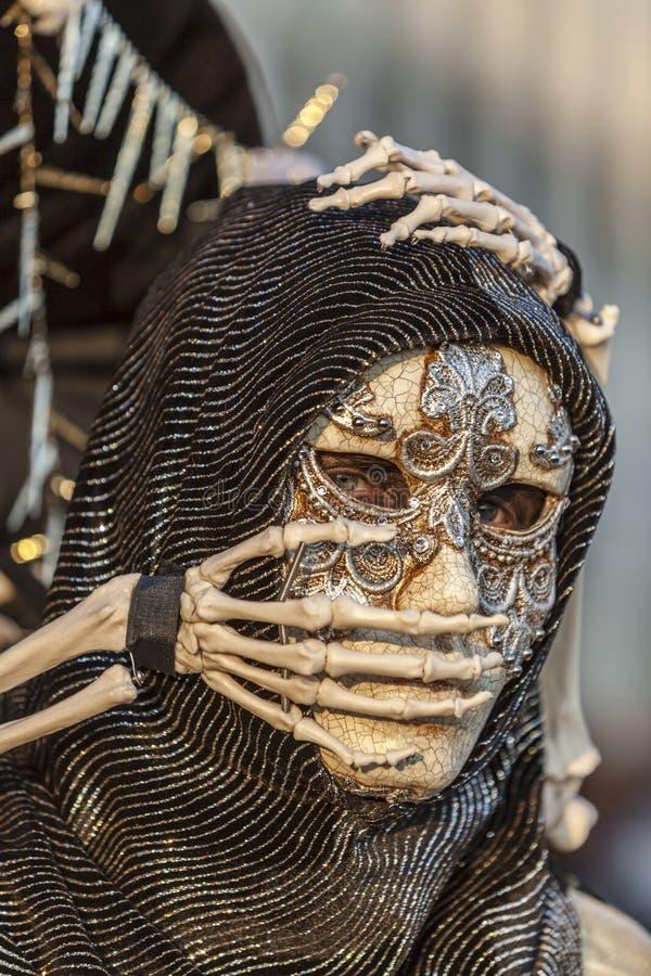 Skelett- förklädnad royaltyfria foton