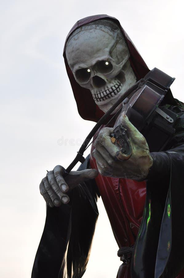 Skelett- fifflaredöd arkivfoto
