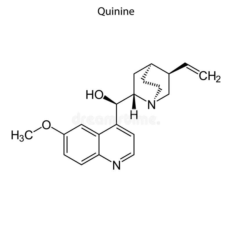 Skelett- formel av den kemiska molekylen royaltyfri illustrationer