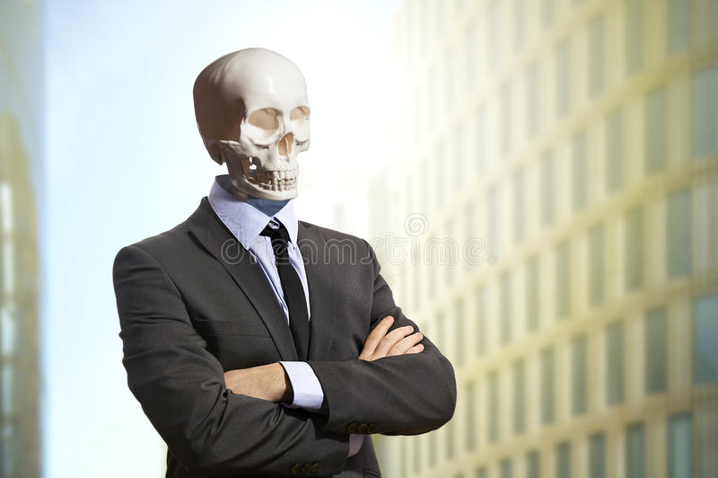 Skelett im Anzug lizenzfreies stockbild