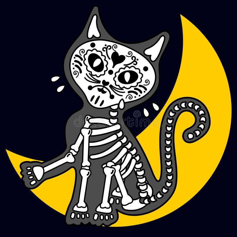 Skelett-Katze stock abbildung. Illustration von säugetier - 54323329
