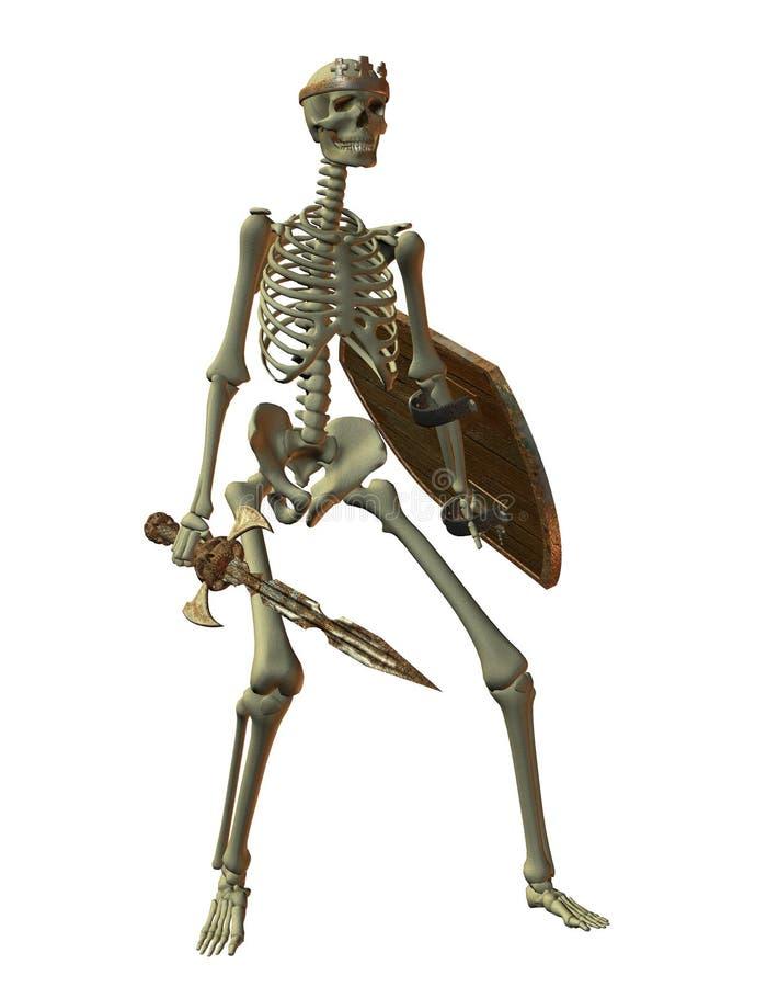 Skelett- krigare vektor illustrationer