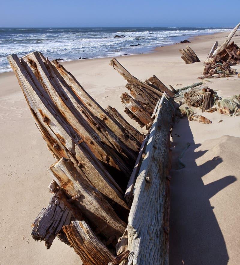 Skelett- kust - skeppsbrott - Namibia royaltyfria bilder