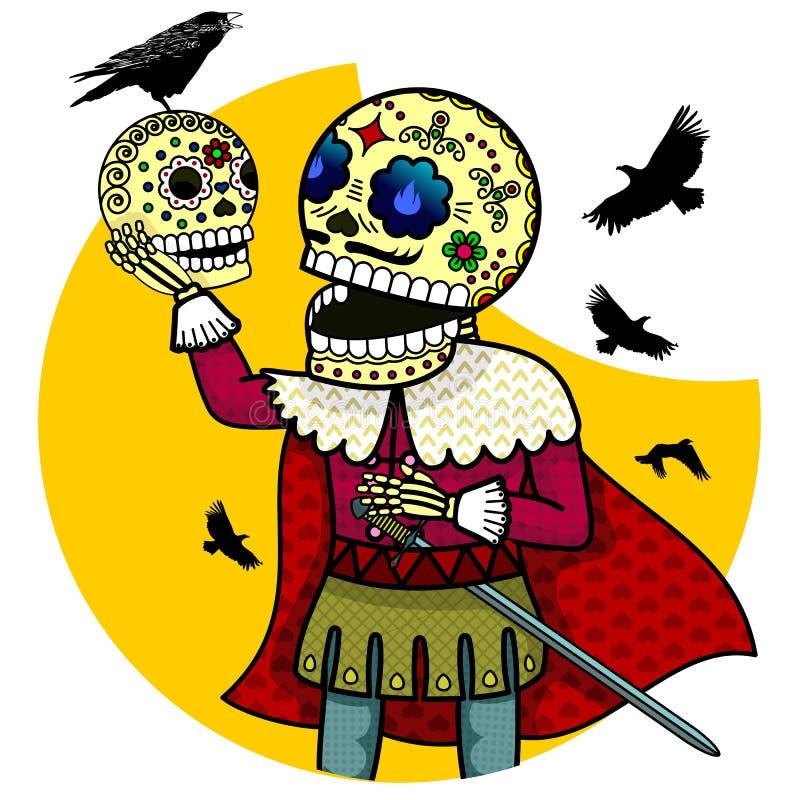 Skelett- prins royaltyfri illustrationer