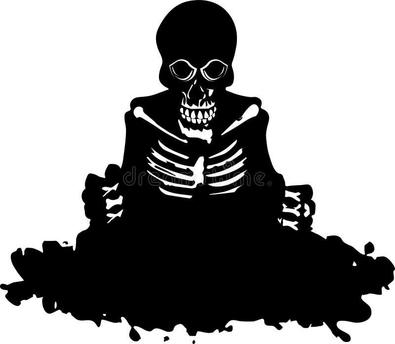 Skelett verlassen ein Grab lizenzfreie abbildung
