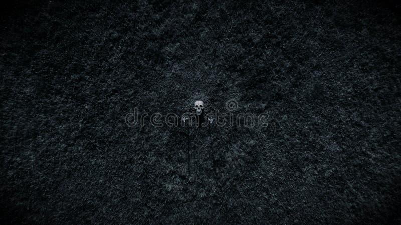 Skelett von der Erde entfernt lizenzfreie stockfotografie