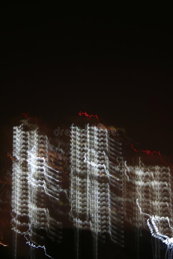 Skelettartige Städte und digitale Zivilisation stockfoto