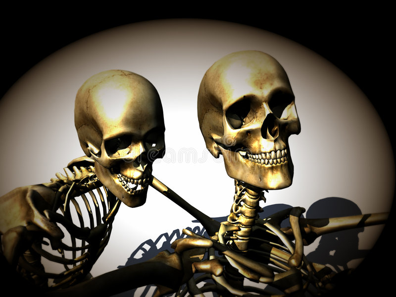 Skelette 18 stock abbildung