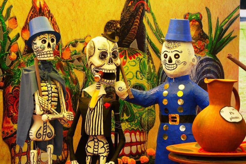 Skelette I stockfotos