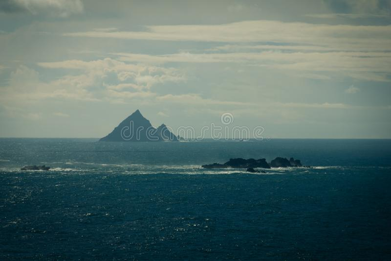 Skellig öar ståndsmässig kerry ireland royaltyfria bilder