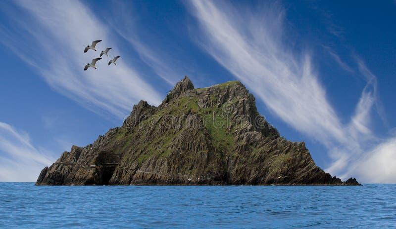 Skellig Michael Co Kerry, Irlanda imagenes de archivo
