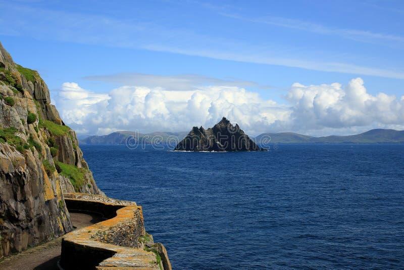 Skellig Michael et peu de Skellig, Irlande, l'Europe images stock