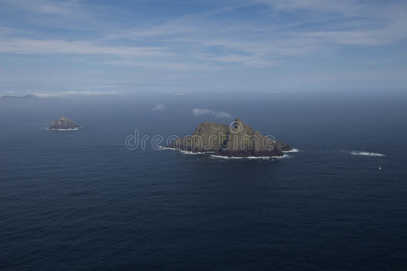 Skellig Michael Star Wars Last Jedi Movie location royalty free stock images