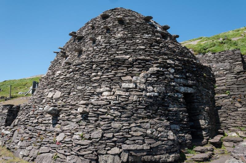 Skellig Michael, Unesco-de Plaats van de Werelderfenis, Kerry, Ierland Star Wars de Kracht wekt Scène op dit Eiland wordt gefilmd royalty-vrije stock afbeelding