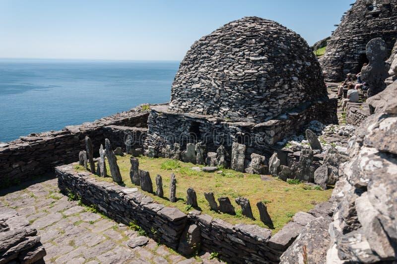Skellig Michael, UNESCO-Welterbestätte, Kerry, Irland Star Wars die Kraft weckt Szene gefilmt auf dieser Insel stockbild