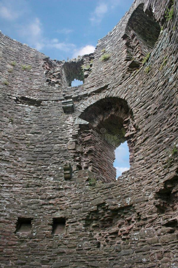 Skenfrith Schloss, Wales stockbild