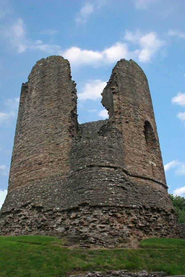 Skenfrith Schloss, Wales lizenzfreies stockbild