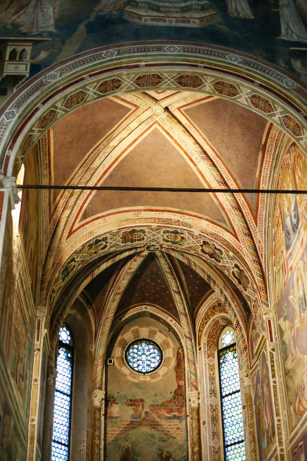Skepp av det Scrovegni kapellet i den Padua staden royaltyfri foto