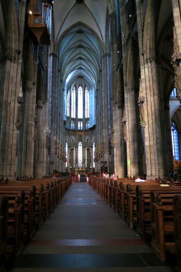 Skepp av domkyrkan i Cologne - påskmaterielfoto arkivbild