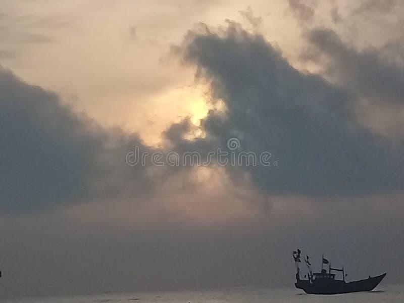Skepp - hav royaltyfri foto
