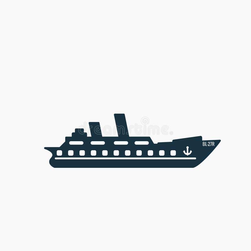 Skepp kryssningsymbolsvektor vektor illustrationer