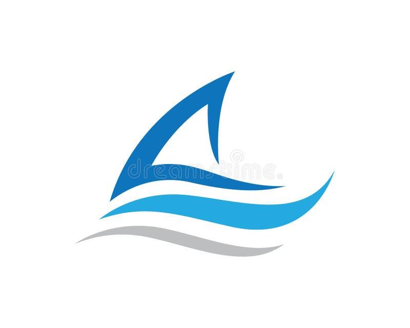 skepp Logo Template stock illustrationer