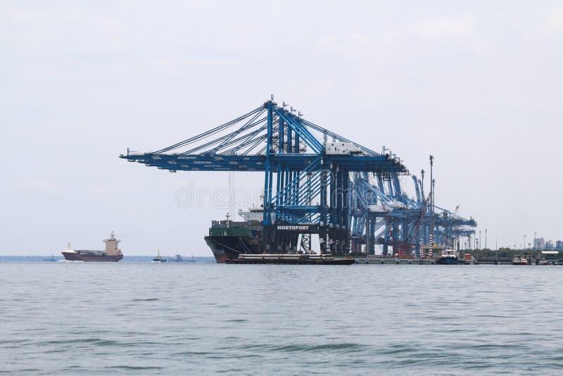 Skepp på Northport, Klang, Malaysia arkivbilder