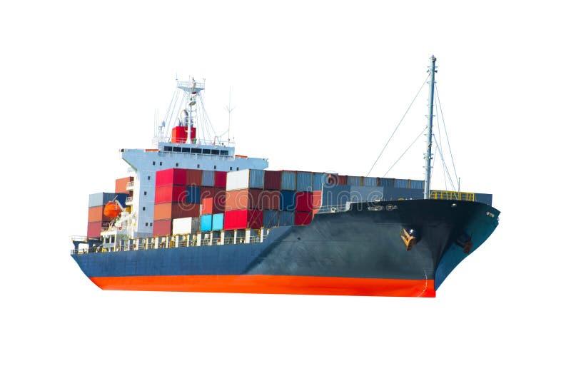 Skepp på vitbaksidajordning royaltyfri bild