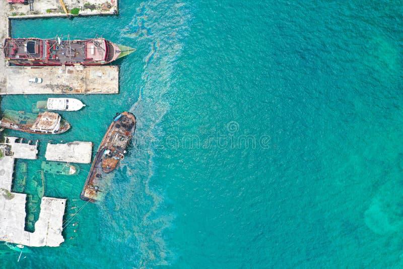 Skepp som havereras i Bahamas royaltyfri bild