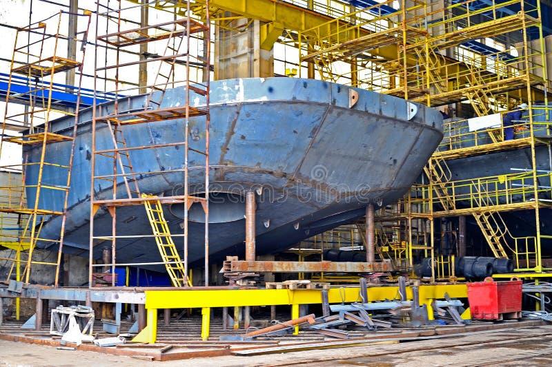 Skeppbyggnad arkivfoto